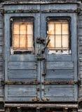 Będący ubranym zaniechany kolejowy kareciany drzwi Obraz Royalty Free