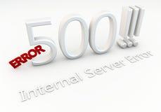 Błąd 500! Wewnętrzny serweru błąd Obraz Royalty Free