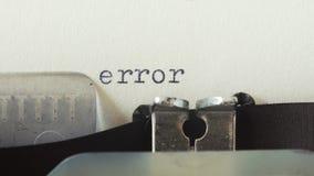 Błąd - pisać na maszynie na starym rocznika maszyna do pisania zbiory