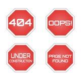 404 błąd - strona znajdująca Fotografia Stock