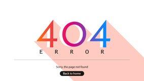 404 błąd Zmartwiony strona znajdująca w domu Obrazy Stock