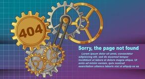 Błąd 404 zmartwiony, strona znajdująca royalty ilustracja