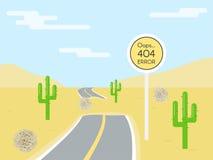 404 błędów strony szablon dla strony internetowej royalty ilustracja