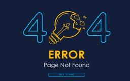 404 błędów strony znajdujący wektorowa lampa łamający graficzny tło ilustracja wektor