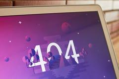 404 błędów wizerunku ekran Obrazy Stock