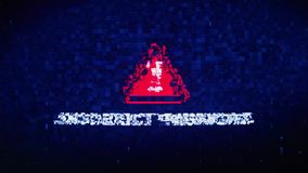 Błędna hasło teksta Cyfrowego hałasu drgania usterki wykoślawienia skutka błędu pętli animacja royalty ilustracja