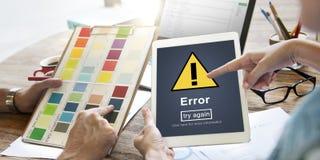 Błędu błędu Online przypomnienie Wystrzega się Raźnego pojęcie Obraz Stock