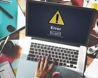 Błędu błędu Online przypomnienie Wystrzega się Raźnego pojęcie Obrazy Royalty Free