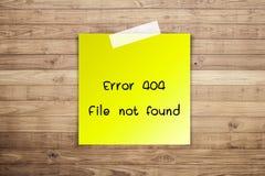 404 błędu kartoteka znajdująca Zdjęcia Royalty Free