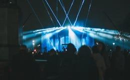 Błękitów światła w wzroscie zdjęcie stock