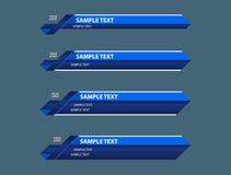 Błękitów niscy trzeci sztandary ilustracji