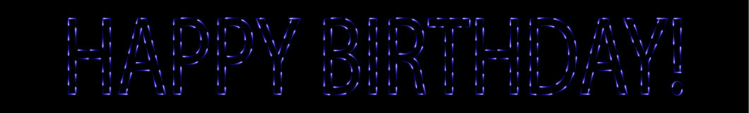 Błękitów ogieni wszystkiego najlepszego z okazji urodzin znak Obrazy Royalty Free