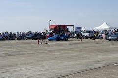Błękitów sportów samochód czeka drużynowego początek na Resinge ` s włóczydłach Obrazy Stock