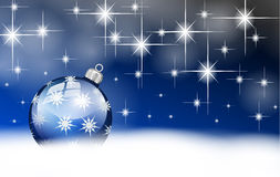 Błękitów srebni wesoło boże narodzenia balowi Obraz Royalty Free