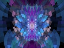 Błękit Łamający Wymiarowy płomienia Fractal ilustracja wektor