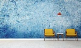 Błękit ściana i deseniują tło Zdjęcie Stock
