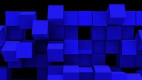 Błękit ściana sześciany spada oddzielnie ilustracji
