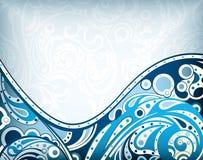 Błękit abstrakcjonistyczna Krzywa ilustracja wektor