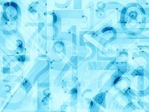 Błękit abstrakcjonistycznych liczb lekki tło Obrazy Stock