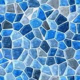 Błękit barwił marmurowej nieregularnej plastikowej kamienistej mozaika wzoru tekstury bezszwowego tło ilustracja wektor