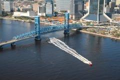Błękit Bridżowy Jacksonville Floryda Obrazy Royalty Free