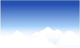 błękit chmurnieje niebo Fotografia Royalty Free