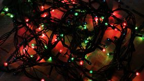 Błękit, czerwień i zielone światła dla choinek elektrycznych świateł, Materiał filmowy klamerka 4K zbiory