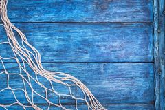Błękit deska z siecią Zdjęcia Stock