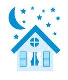 Błękit dom Obrazy Royalty Free