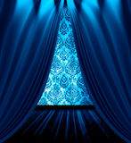 błękit drapuje pokój Obrazy Royalty Free
