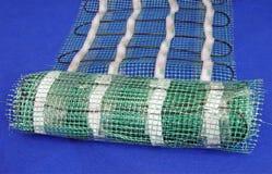 błękit dywanu zieleni siatki paczka Fotografia Stock
