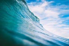 Błękit fala w oceanie Duża fala dla surfować Obraz Stock