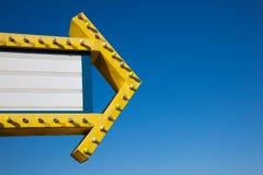błękit frontowy marguee filmu niebo Zdjęcie Royalty Free