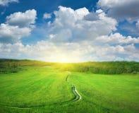 błękit głęboki pasa ruchu drogi niebo Zdjęcie Royalty Free
