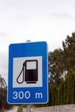 błękit gazu znaka staci ruch drogowy fotografia royalty free
