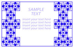 błękit geometryczny rabatowy Zdjęcie Royalty Free