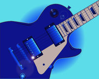 Błękit gitara ilustracja wektor