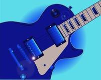 Błękit gitara Obrazy Stock