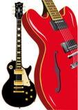 Błękit gitary royalty ilustracja
