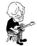 Błękit gitary gracz ilustracja wektor