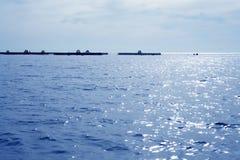błękit gospodarstwa rolnego ryba morza śródziemnomorskiego widok Obrazy Stock