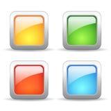 błękit guzików gracza wektoru wersja Obraz Stock