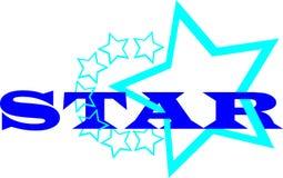 Błękit gwiazdy logo royalty ilustracja