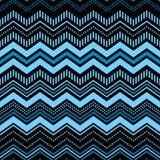 Błękit i czerń textured szewronu ornamentu geometrycznego abstrakcjonistycznego bezszwowego wzór, wektor Zdjęcia Royalty Free