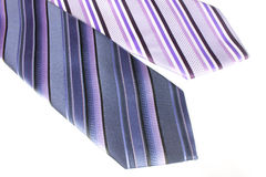 Błękit i fiołkowy krawat Obrazy Royalty Free