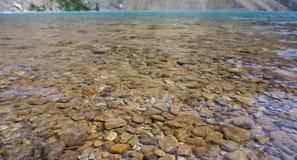 Błękit i jasny jezioro Obraz Royalty Free