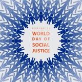 Błękit i kobiety mienia ręka obsługujemy each inny Światowy dzień sprawiedliwość społeczna Zdjęcia Stock