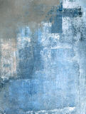 Błękit i Popielaty Abstrakcjonistycznej sztuki obraz obraz royalty free