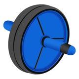 Błękit izolujący rolownik prasy unicycle na białym tle two-w Obraz Stock