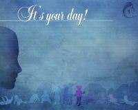 Błękit ja ` s twój dnia tło Obrazy Royalty Free